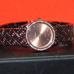 Women's Peugeot 7040 Crystal Dress Quartz Watch
